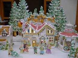 the the best lighted house collection shop with santa