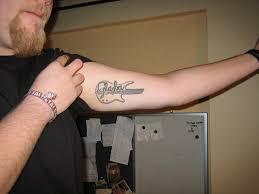 cool guitar tattoo design for guys tattoomagz