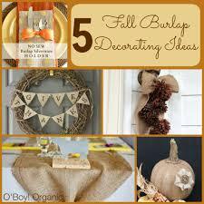 5 fall burlap decorating ideas