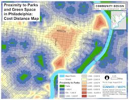 Map Walking Distance Summer Of Maps Creating A Cost Distance Surface To Measure Park