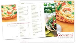 tri fold brochure template for pizza restaurant order custom tri