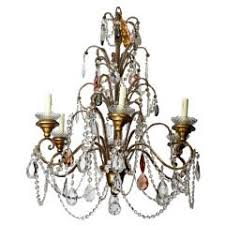Chandelier Bobeches Six Light Italian Macaroni Beaded Chandelier With Crystal Bobeches