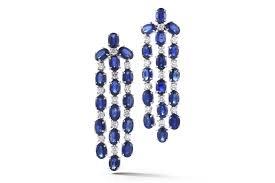 blue chandelier earrings nightlife chandelier earrings with blue sapphires and diamonds