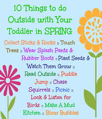 what is spring fun ideas for outdoor play with toddlers in spring