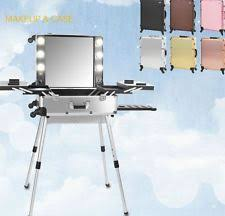 Rolling Makeup Case With Lights Makeup Station With Lights Moq 1pc Fast Delivery Large
