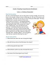 foxy reading worksheets second grade comprehension 2nd