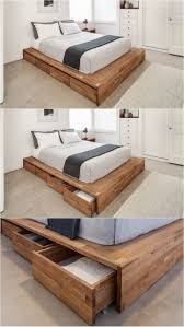 Platform Bed With Storage Plans by Best 25 Diy Storage Bed Ideas On Pinterest Beds For Small Rooms