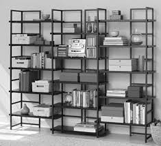 Large White Bookcases by Picturesque Bookshelf Bedroom Design With White Wooden Standing On