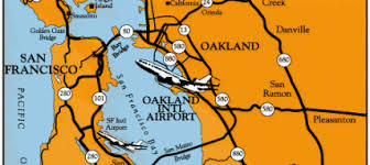 california map oakland maps directions oakland international airport
