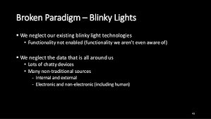 Blinky Lights Bad Advice Unintended Consequences And Broken Paradigms Think U2026