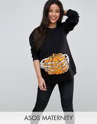 asos maternity asos maternity halloween skeleton hand sweatshirt