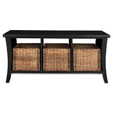 Wicker Shelves Bathroom by Bathroom Modern Bathroom Bench With Storage Design Black Wooden