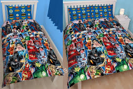 Marvel Double Duvet Cover Batman Bedding Ebay Justice League Invincible Singledouble Duvet
