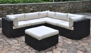 L Shaped Sectional Sofa Poundex 425 Outdoor Patio L Shape Sectional Sofa Set