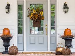 easy and simple fall front porch and our new front door