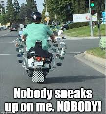 Funny Motorcycle Meme - motorcycle mirror overkill imgflip
