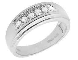 10k white gold wedding band men s 14k white gold one row channel set grooved diamond wedding