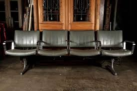 Wood Waiting Room Chairs Set Of Four Retro Style Airport Waiting Area Chairs Olde Good Things
