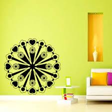 Om Wall Decal Mandala Vinyl by Free Shipping Cool Wall Art Decal Yoga Mandala Om Indian Buddha
