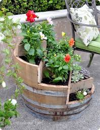 wine barrel planters you can easily make