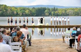 pocono wedding venues treat your guests to a unique wedding ceremony at trout lake in