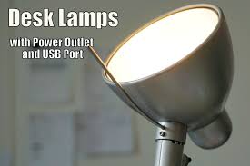 best desk lamp with power outlet and usb port