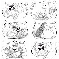 woodland animals coloring pages coloring page for kids