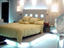 bedroom creative under bed platform lighting with box covered