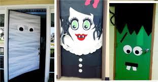 Frankenstein Door Decoration Diy Halloween Door Decorations Pilotproject Org