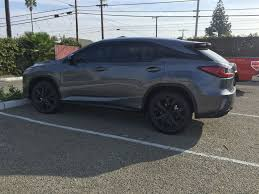 matte black lexus rx 350 2016 lexus rx350 with plasti dip on chrome and wheels clublexus