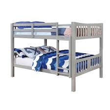furniture of america edith full over full bunk bed in gray idf