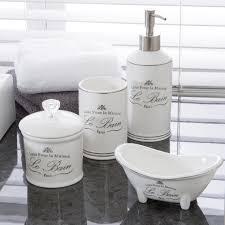 Oslo Bathroom Furniture by Le Bain White Bathroom Accessories Pillow Talk