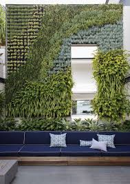 garden walls with tropical plants l andscape tropical and wooden