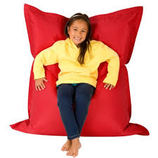 hi bagz kids bean bag 4 way lounger red bean bags outdoor floor