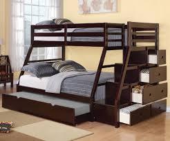Bunk Bed With Storage Jason Espresso Finish Size Bunk Bed Storage Ladder