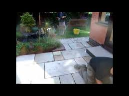 How To Regrout Patio Slabs How To Point Sandstone Paving Youtube