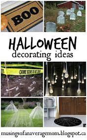 musings of an average mom outside halloween decorating ideas
