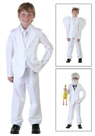 Halloween Costumes Boy Kids Child White Suit Costume