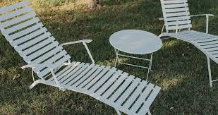 Metal Chaise Bistro Chaise Longue Garden Deck Chair