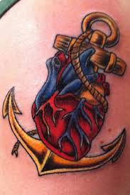anchor heart tattoo design tattoos book 65 000 tattoos designs