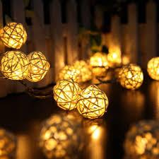 warm white string fairy lights 20 led warm white rattan ball string fairy lights for christmas xmas