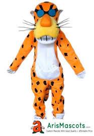 100 real photos lovely chester cheetah mascot costume cartoon