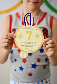 Olympic Invitation Cards Go For The Gold With An Olympics Themed Kids Party Project Nursery
