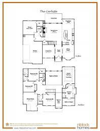 carlisle floor plan 2nd floor master bed niblock homes nc