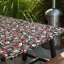 Round Elastic Tablecloth Amazon Com All American Bbq Original Elasticized Table Cover