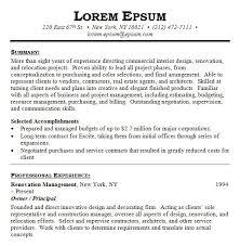 Resume Samples For Interior Designers by Interior Design Resume Examples Homedecoratorspace Com