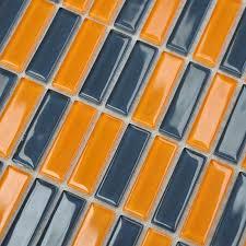 Wholesale Backsplash Tile Kitchen by Glass Mosaic Tiles Backsplash Strip Design Wall Stickers Kitchen