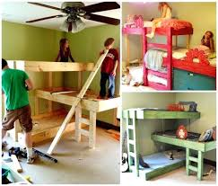 home and interior unique bunk beds at home and interior design ideas 3 bunk bed plans