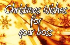 christmas wishes for your boss