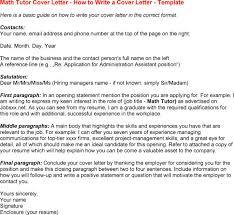 Math Tutor Job Description Resume tutor cover letter my document blog